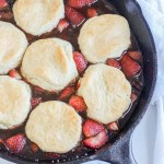 Roasted Strawberry Cobbler [Vegan]