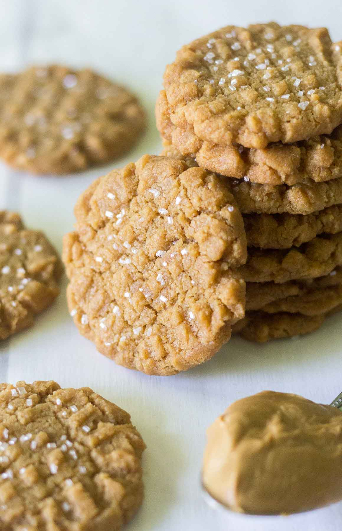 easy flourless peanut butter cookies