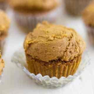Two Ingredient Mini Pumpkin Muffins