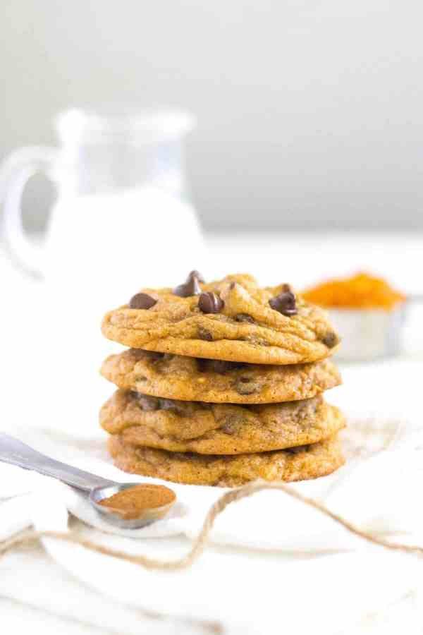 Soft and chewy pumpkin spice pudding cookies! These fall-filled cookies stay soft for days and they're perfect for celebrating fall festivities or sharing at family gatherings.