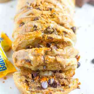 Chocolate Peanut Butter Pull Apart Bread
