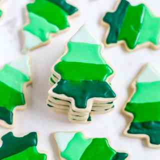 Ombré Christmas Tree Cookies