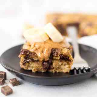 Chocolate Chip Banana Baked Oatmeal