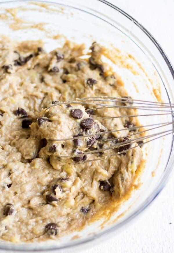 healthy banana bread recipe batter