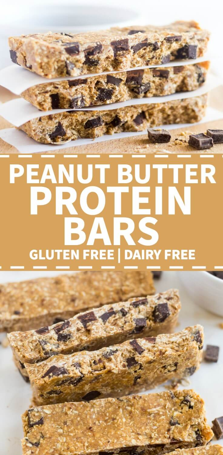 peanut butter oatmeal protein bars