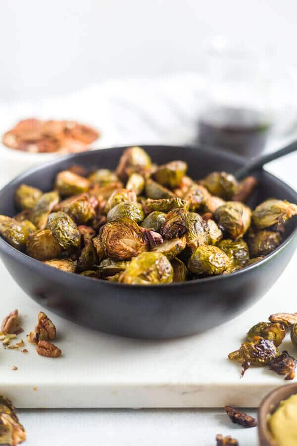 baked brussel sprouts balsamic