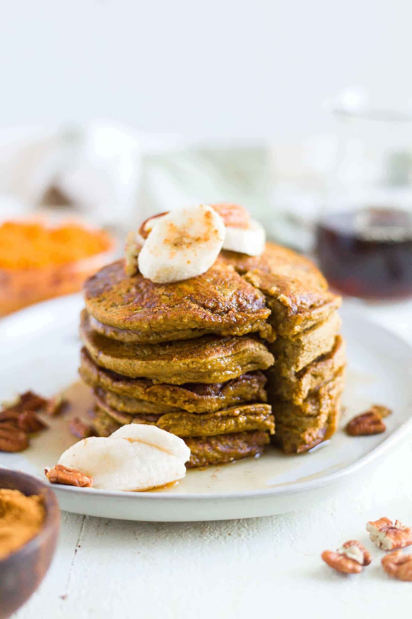 healthy pumpkin pancakes