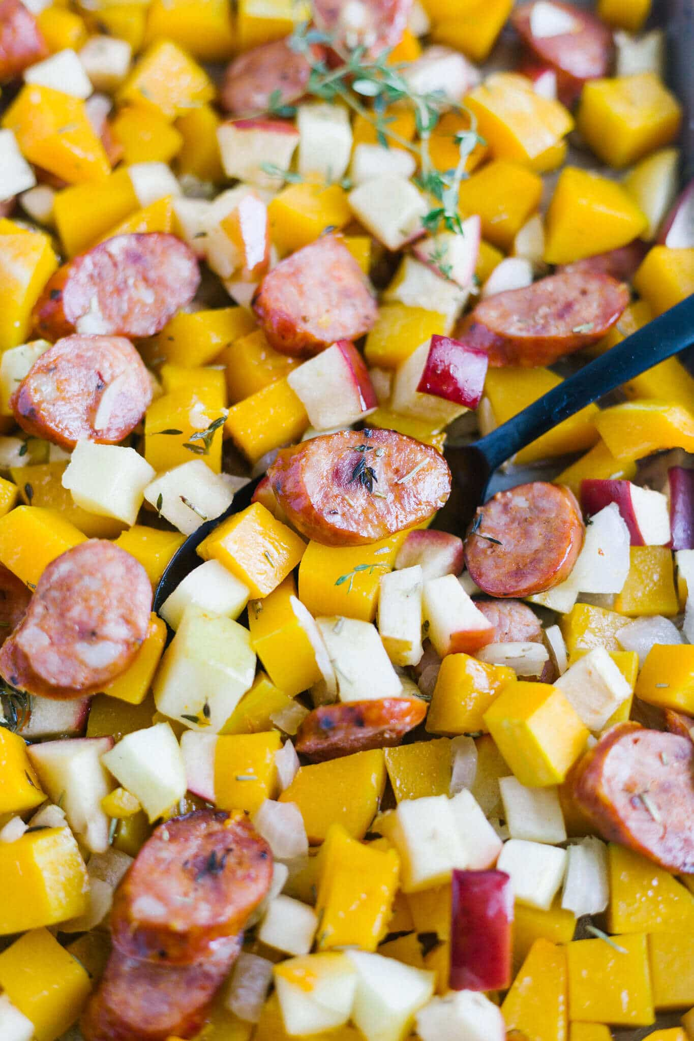 roasted butternut squash and apples