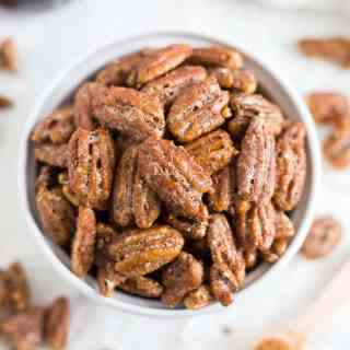 Candied Pecans [Refined Sugar Free | Paleo]