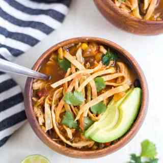 chicken tortilla soup slow cooker