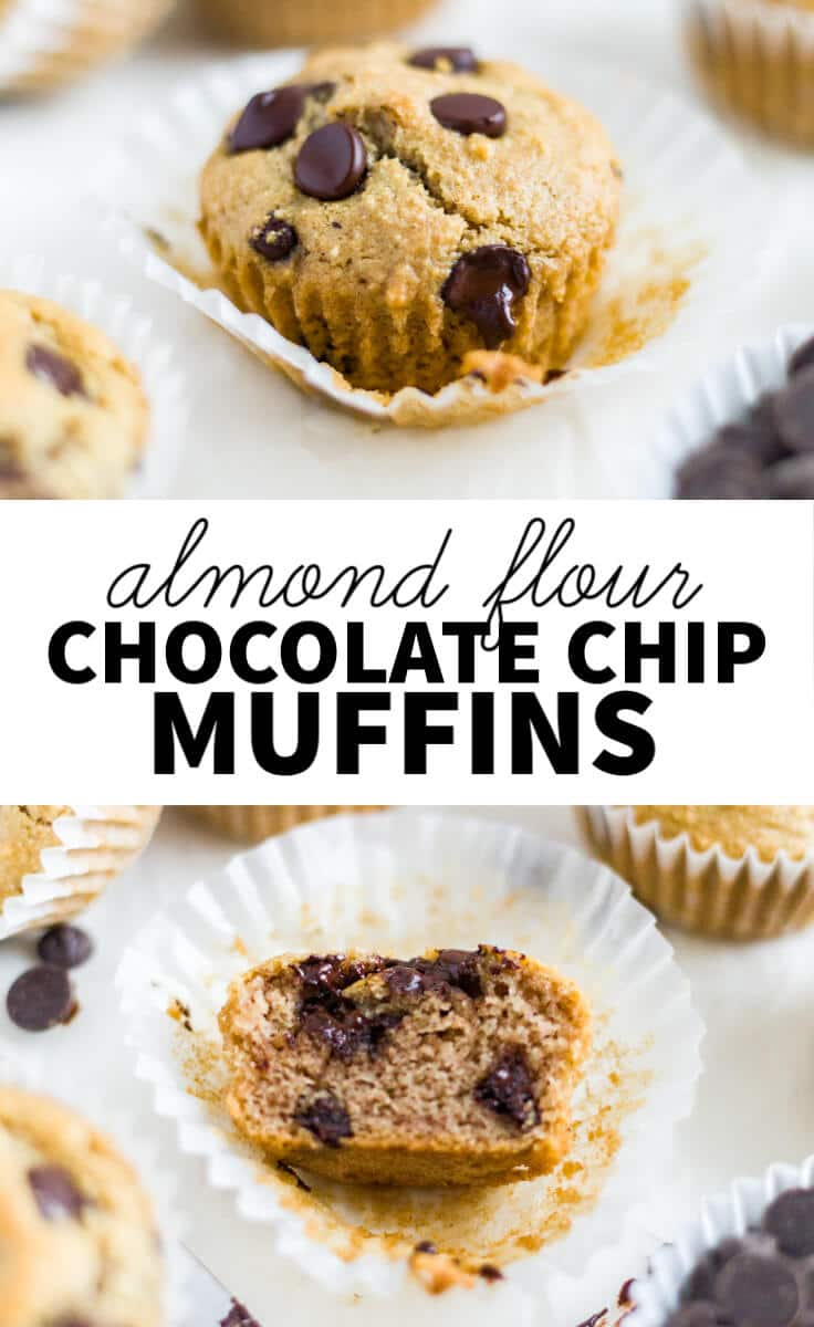 almond flour chocolate chip muffins