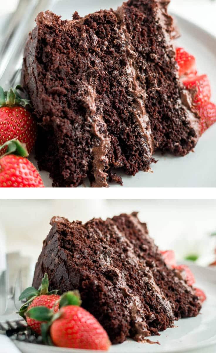paleo chocolate cake pin