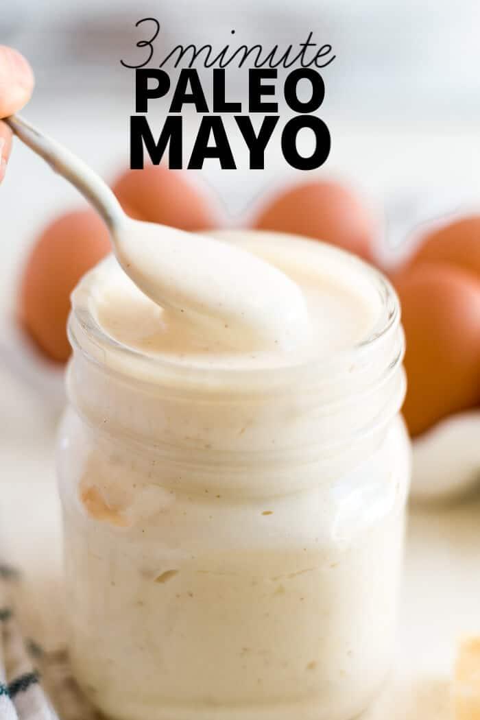 3 minute paleo mayo with text overlay