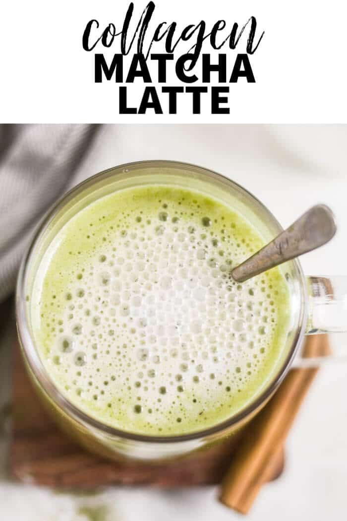 collagen matcha latte pin