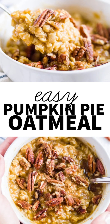 pumpkin and oatmeal