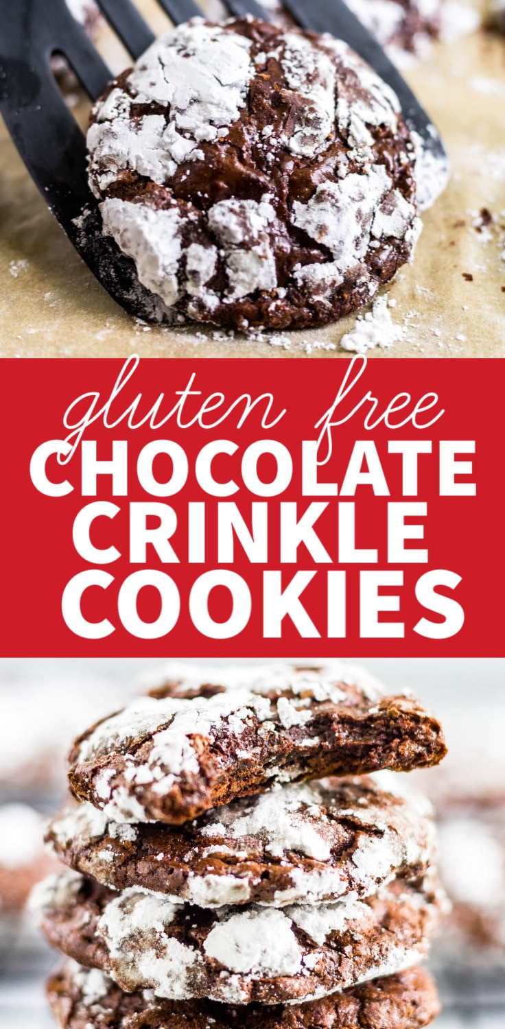 gf chocolate crinkle cookies