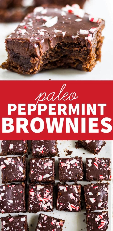 paleo peppermint brownies