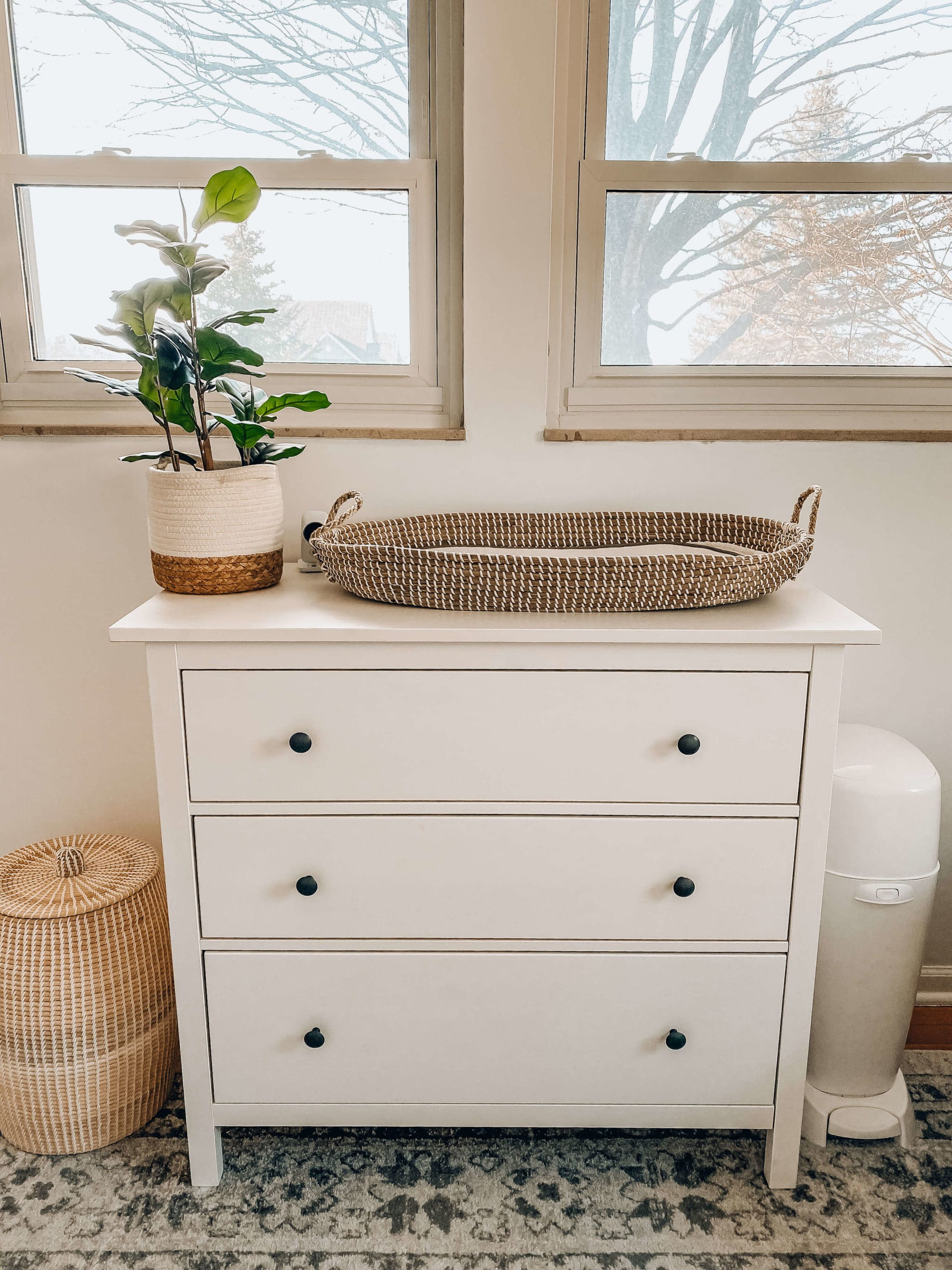 changing station boho nursery