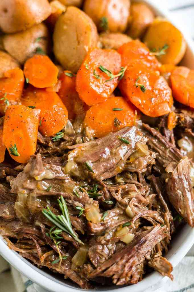 instant pot pot roast with carrots and potatoes