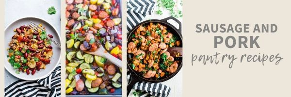 poultry and pork pantry meals