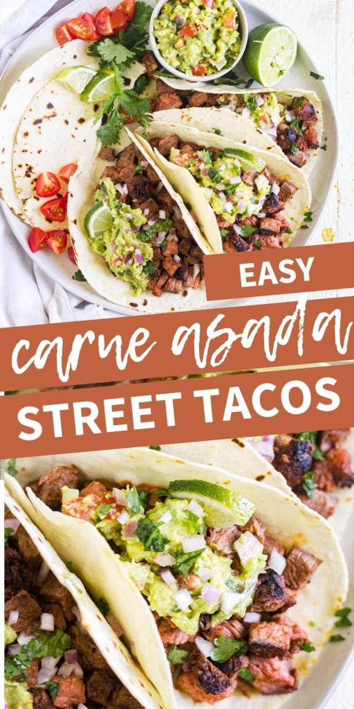 carne asada street tacos pin image