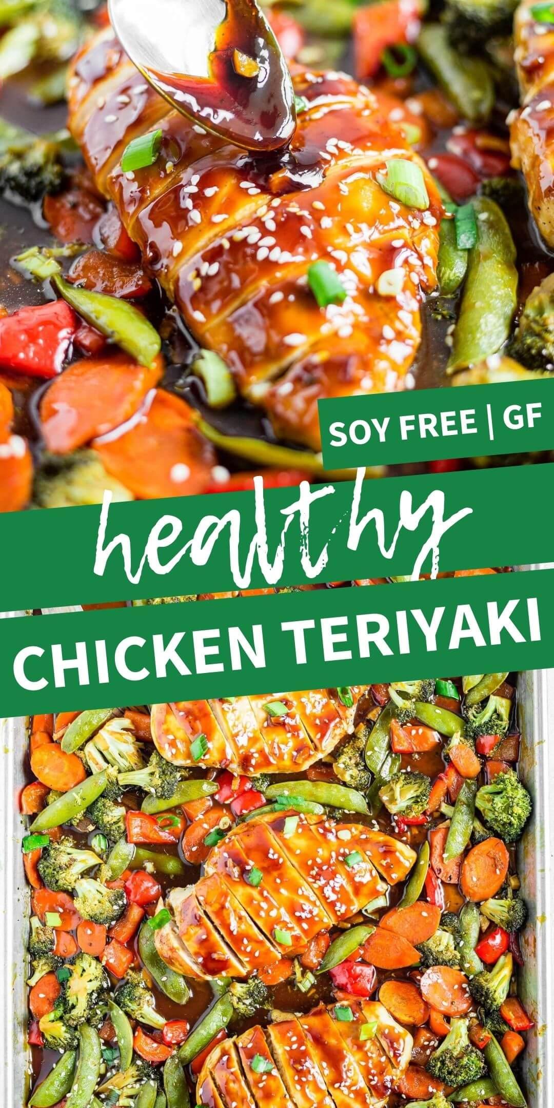 collage image of chicken teriyaki for pinterest