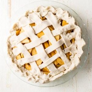 gluten free apple pie with lattice