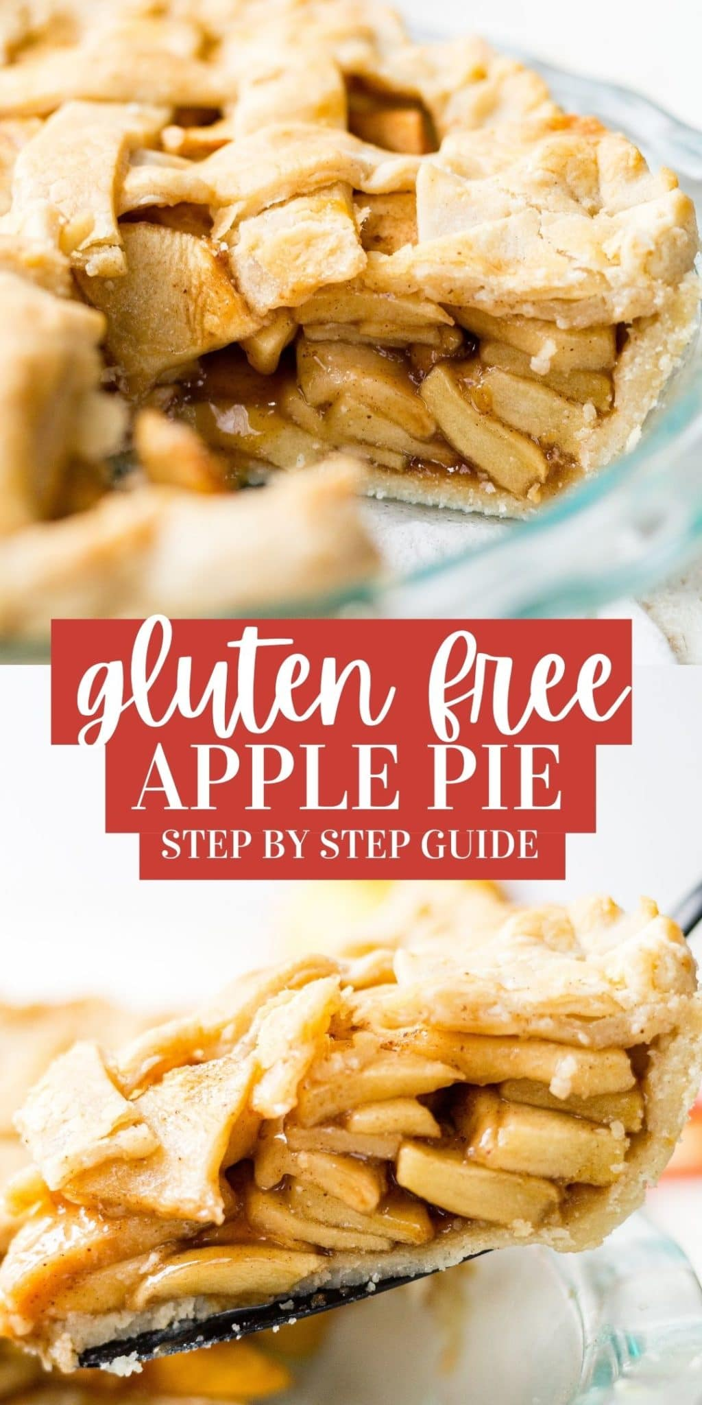 gluten free apple pie recipe pin collage