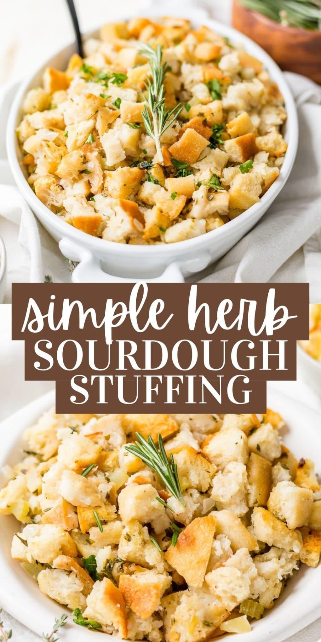 simple herb sourdough stuffing