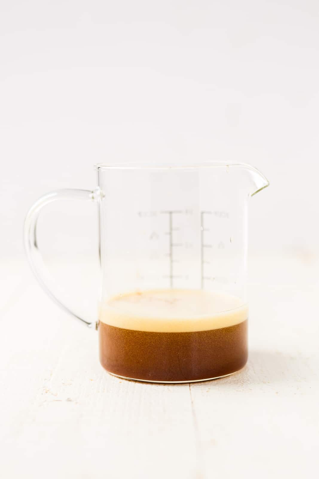 brown butter in a measuring cup before being added to cookies