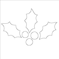 leaf holly outline templates template printable cut stencil print patterns leave