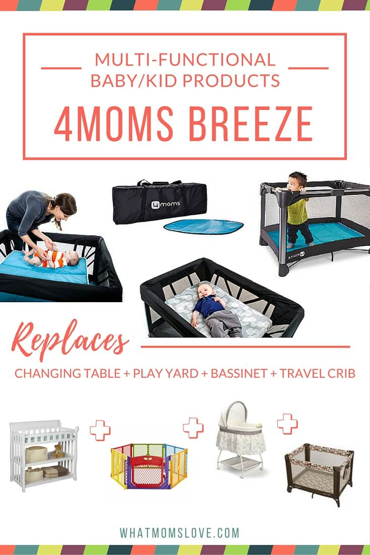 Buy less baby stuff with these multi-functional products. 4Moms Breeze converts from changing table to bassinet to travel crib to play yard