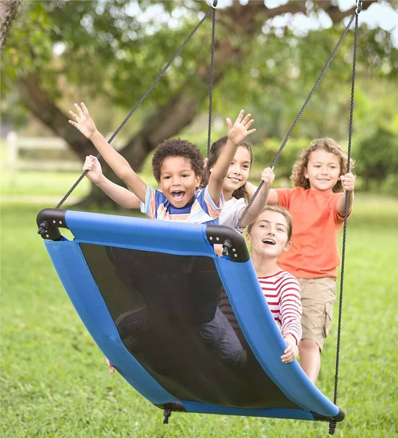 Cool Outdoor Swings for Kids - Skycurve by Hearthsong