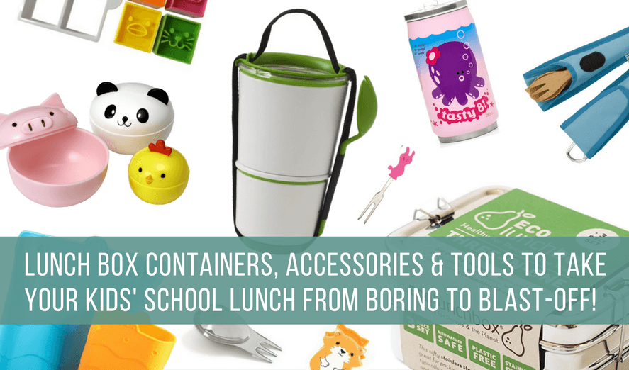 best cool lunch containers, accessories, utensils, tools to make school lunches fun - back to school shopping guide