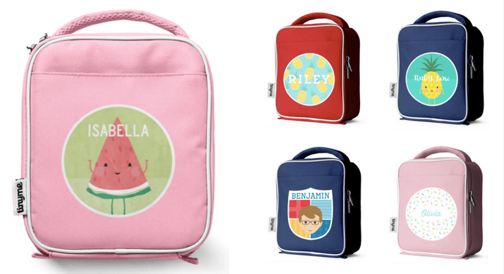 TinyMe Personalized Lunch Bags for kids