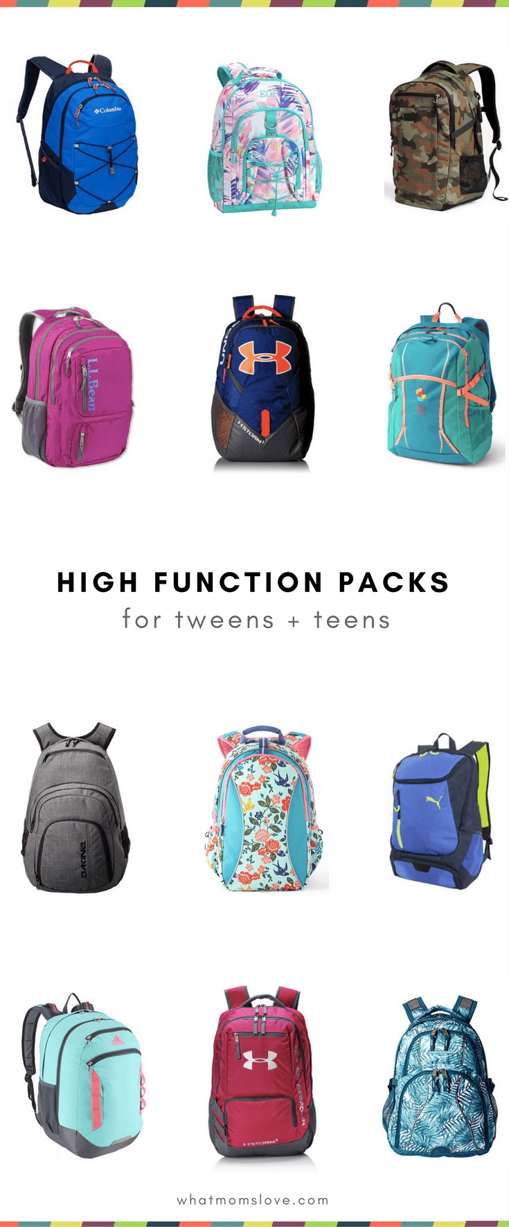 Best Backpacks for Tweens and Teens for Back to School - Lots of pockets