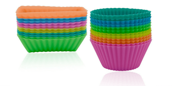 Ipow Silicone Cupcake Baking Muffin Cups Liners Molds Sets