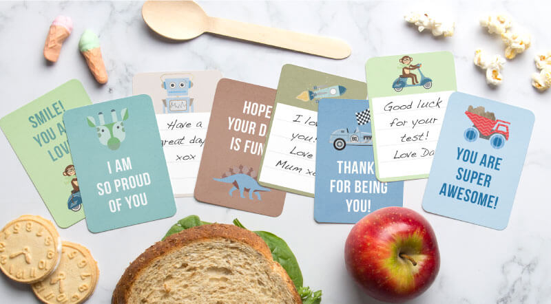 tinyme lunch box printable notes