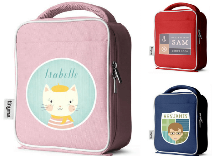 Tinyme personalized lunch bag