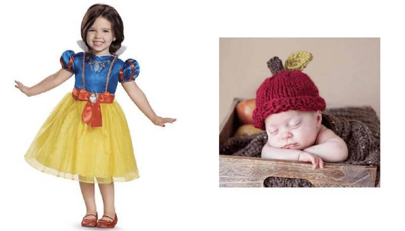 Creative Halloween Costumes for Siblings - Snow White and Apple