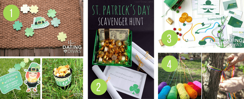Fun Ideas for kids to celebrate St Patricks Day - Scavenger hunts, treasure hunts and Leprechaun mischief!