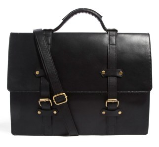 ASOS Double Strap Leather Satchel
