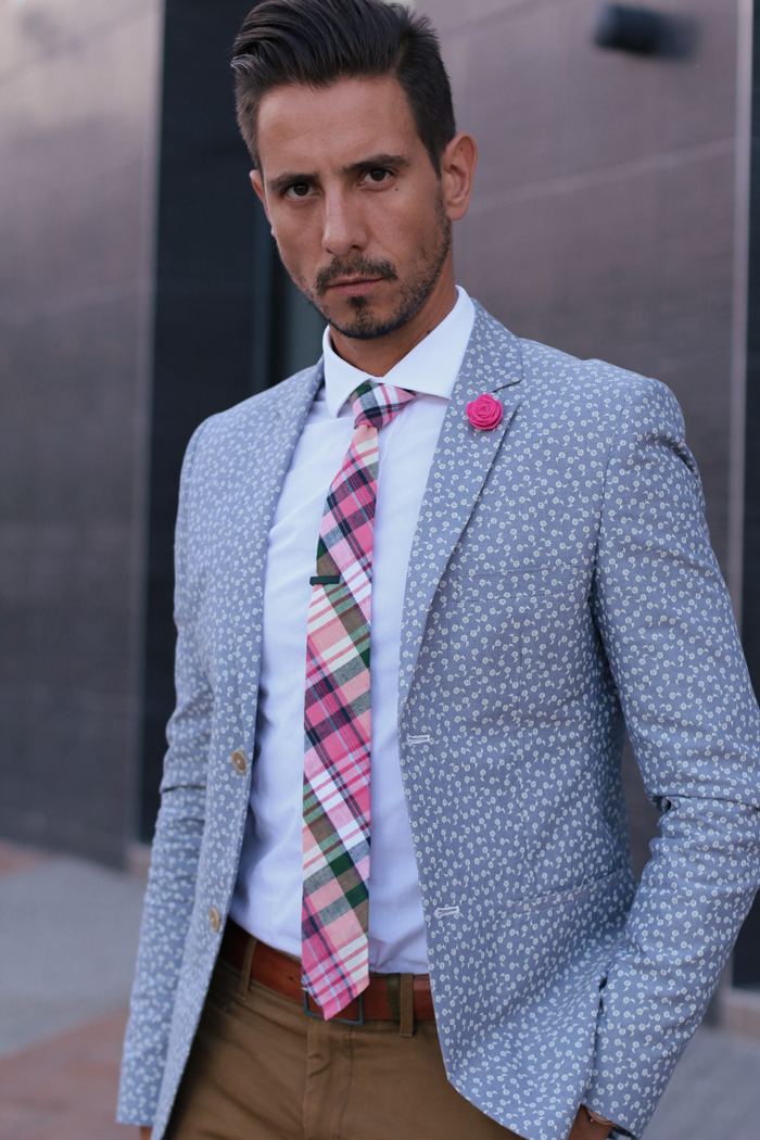 Fancy friday in florals and argyle what my boyfriend wore for What color tie with blue shirt