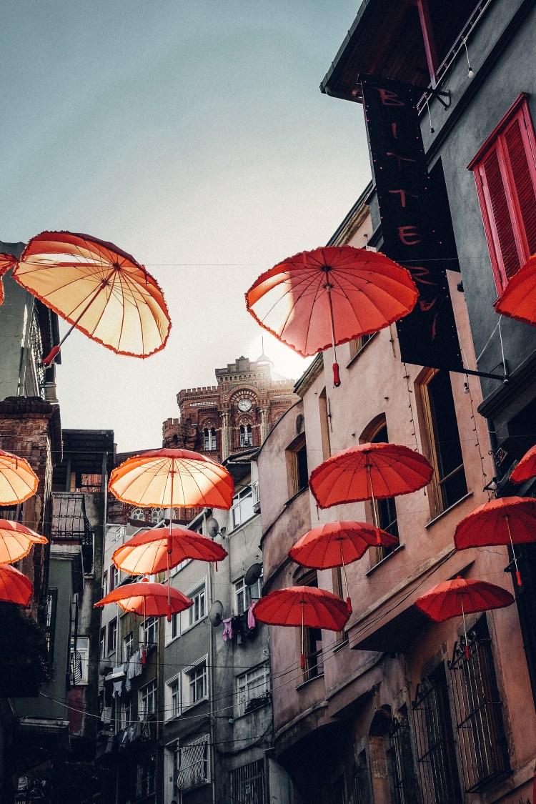 Istanbul-umbrellas