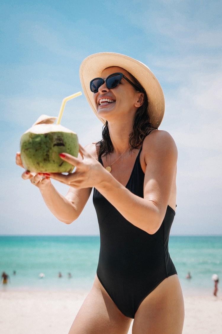 Thailand-Phuket-Coconut on beach