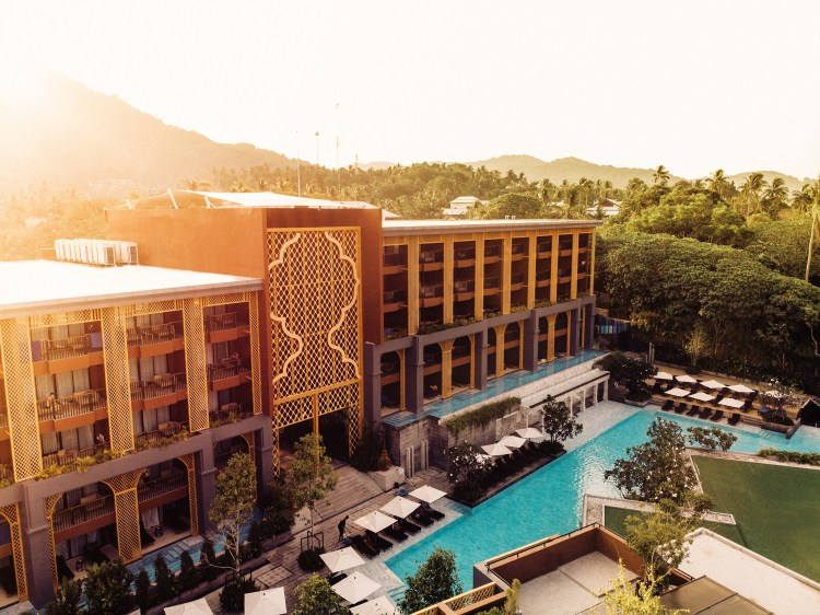 Thailand-Phuket-drone building-Avista-Grande-Karon