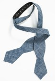 ligh blue chambray bow tie
