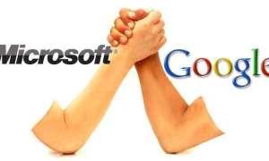 Google i Microsoft walczą o tytuł drugiej, najbogatszej firmy technologicznej
