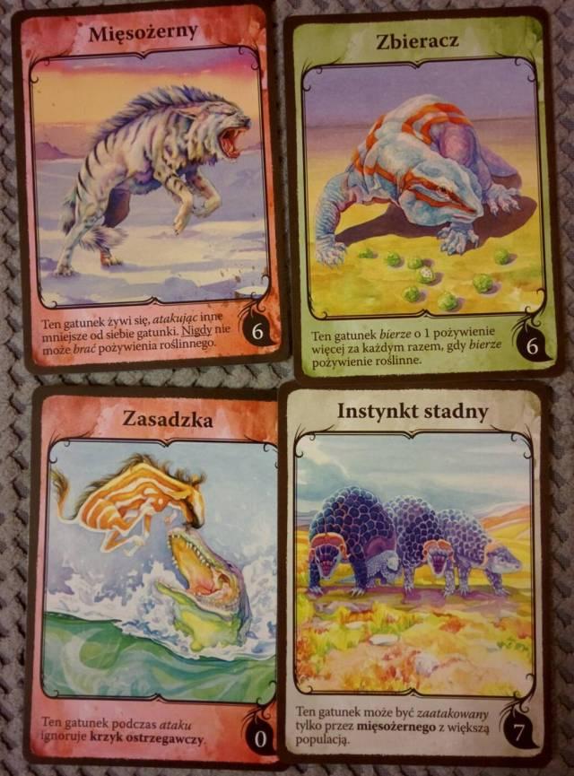 Ewolucja karty cech