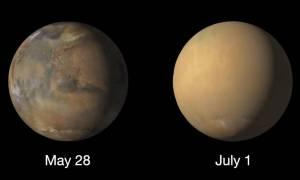NASA udostępniła zdjęcia ogromnych burz na Marsie